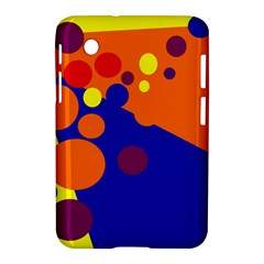 Blue And Orange Dots Samsung Galaxy Tab 2 (7 ) P3100 Hardshell Case  by Valentinaart