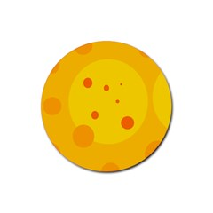 Abstract Sun Rubber Coaster (round)  by Valentinaart