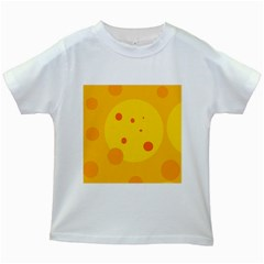 Abstract Sun Kids White T Shirts by Valentinaart