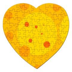 Abstract Sun Jigsaw Puzzle (heart) by Valentinaart