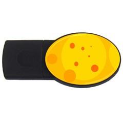 Abstract Sun Usb Flash Drive Oval (4 Gb)  by Valentinaart