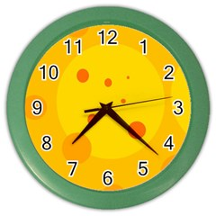 Abstract Sun Color Wall Clocks by Valentinaart