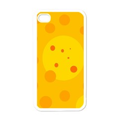 Abstract Sun Apple Iphone 4 Case (white) by Valentinaart