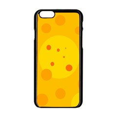 Abstract Sun Apple Iphone 6/6s Black Enamel Case by Valentinaart