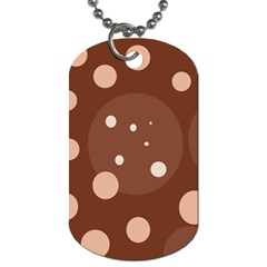 Brown Abstract Design Dog Tag (one Side) by Valentinaart