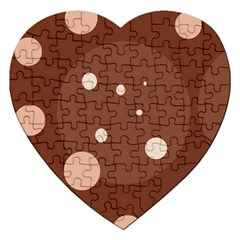 Brown Abstract Design Jigsaw Puzzle (heart) by Valentinaart
