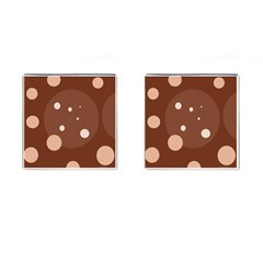 Brown Abstract Design Cufflinks (square)