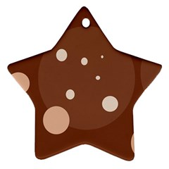 Brown Abstract Design Star Ornament (two Sides)  by Valentinaart