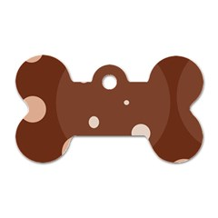 Brown Abstract Design Dog Tag Bone (one Side) by Valentinaart