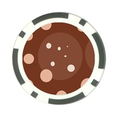 Brown Abstract Design Poker Chip Card Guards by Valentinaart