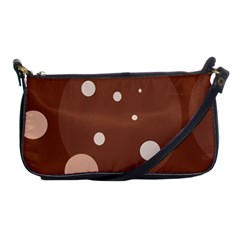 Brown Abstract Design Shoulder Clutch Bags by Valentinaart