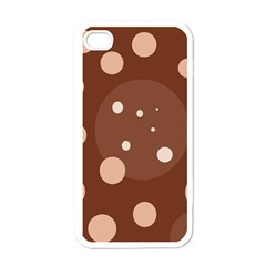Brown Abstract Design Apple Iphone 4 Case (white) by Valentinaart