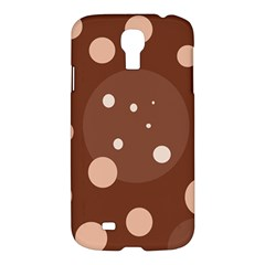 Brown Abstract Design Samsung Galaxy S4 I9500/i9505 Hardshell Case by Valentinaart