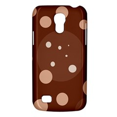 Brown Abstract Design Galaxy S4 Mini by Valentinaart