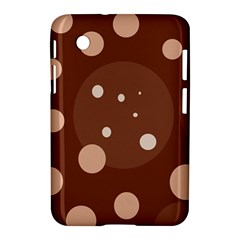 Brown Abstract Design Samsung Galaxy Tab 2 (7 ) P3100 Hardshell Case