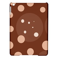 Brown Abstract Design Ipad Air Hardshell Cases by Valentinaart