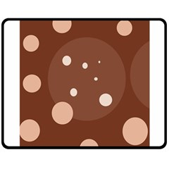 Brown Abstract Design Double Sided Fleece Blanket (medium)  by Valentinaart