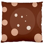 Brown abstract design Large Flano Cushion Case (One Side) Front