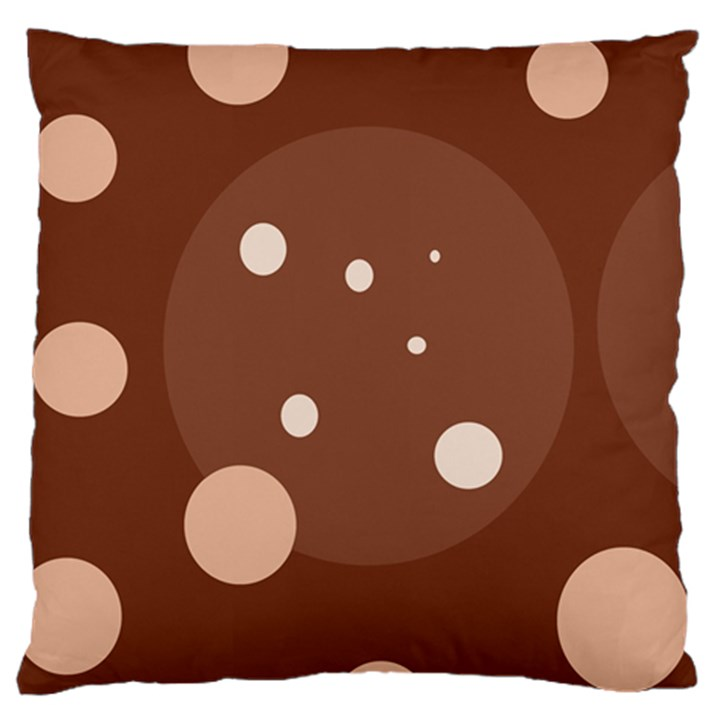 Brown abstract design Large Flano Cushion Case (One Side)