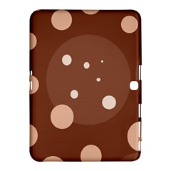 Brown Abstract Design Samsung Galaxy Tab 4 (10 1 ) Hardshell Case  by Valentinaart