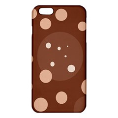 Brown Abstract Design Iphone 6 Plus/6s Plus Tpu Case by Valentinaart