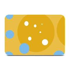 Blue And Yellow Moon Plate Mats by Valentinaart