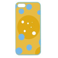 Blue And Yellow Moon Apple Seamless Iphone 5 Case (color) by Valentinaart