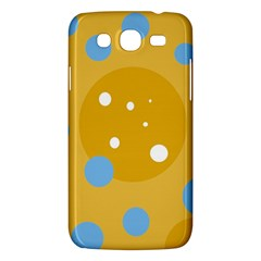 Blue And Yellow Moon Samsung Galaxy Mega 5 8 I9152 Hardshell Case  by Valentinaart