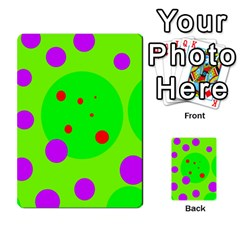 Green And Purple Dots Multi Purpose Cards (rectangle)  by Valentinaart