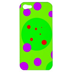 Green And Purple Dots Apple Iphone 5 Hardshell Case