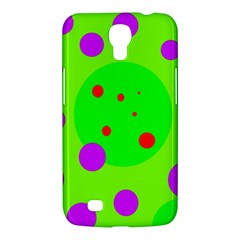 Green And Purple Dots Samsung Galaxy Mega 6 3  I9200 Hardshell Case by Valentinaart