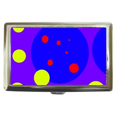 Purple And Yellow Dots Cigarette Money Cases by Valentinaart