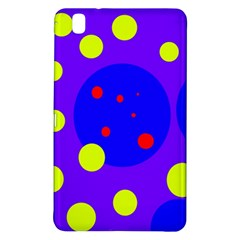 Purple And Yellow Dots Samsung Galaxy Tab Pro 8 4 Hardshell Case by Valentinaart