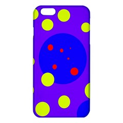 Purple And Yellow Dots Iphone 6 Plus/6s Plus Tpu Case by Valentinaart