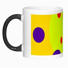 Yellow And Purple Dots Morph Mugs by Valentinaart