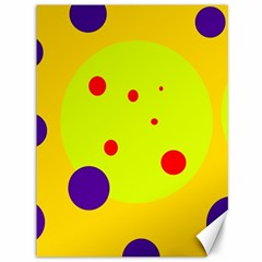 Yellow And Purple Dots Canvas 36  X 48   by Valentinaart
