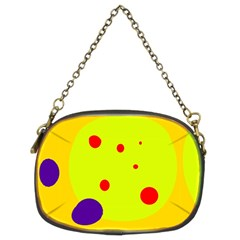 Yellow And Purple Dots Chain Purses (two Sides)  by Valentinaart
