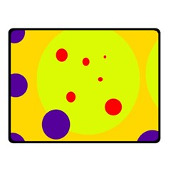 Yellow And Purple Dots Fleece Blanket (small) by Valentinaart