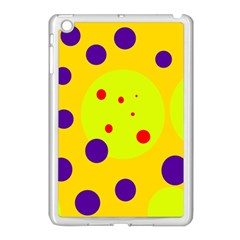 Yellow And Purple Dots Apple Ipad Mini Case (white) by Valentinaart