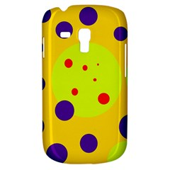 Yellow And Purple Dots Samsung Galaxy S3 Mini I8190 Hardshell Case by Valentinaart