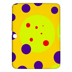 Yellow And Purple Dots Samsung Galaxy Tab 3 (10 1 ) P5200 Hardshell Case  by Valentinaart