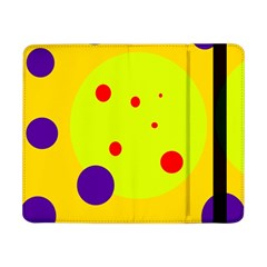 Yellow And Purple Dots Samsung Galaxy Tab Pro 8 4  Flip Case by Valentinaart