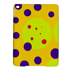 Yellow And Purple Dots Ipad Air 2 Hardshell Cases by Valentinaart