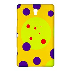Yellow And Purple Dots Samsung Galaxy Tab S (8 4 ) Hardshell Case  by Valentinaart