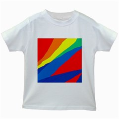 Colorful Abstract Design Kids White T Shirts by Valentinaart