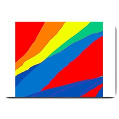 Colorful Abstract Design Large Doormat  by Valentinaart