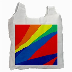 Colorful Abstract Design Recycle Bag (one Side) by Valentinaart