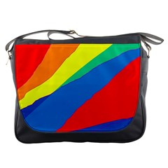Colorful Abstract Design Messenger Bags by Valentinaart