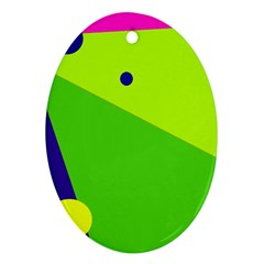 Colorful Abstract Design Ornament (oval)