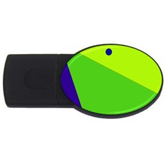 Colorful Abstract Design Usb Flash Drive Oval (4 Gb)  by Valentinaart